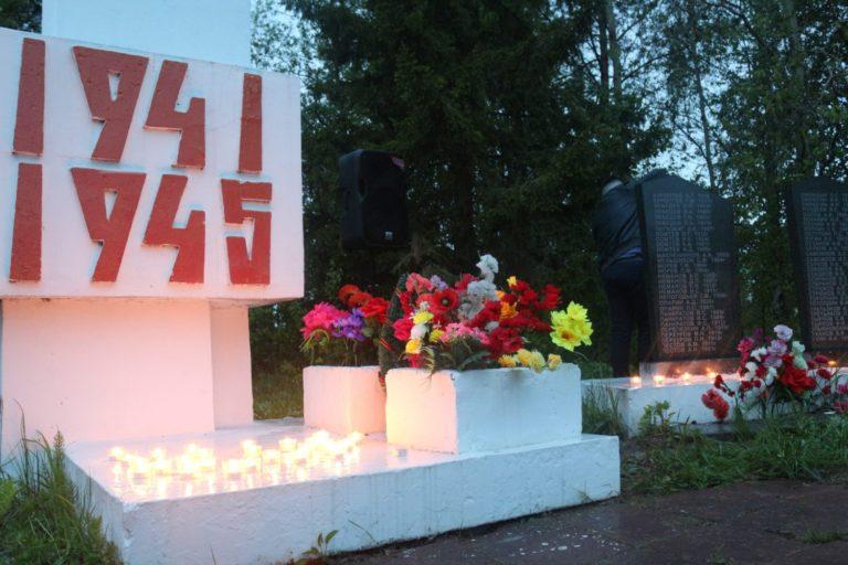 Всероссийская акция «Свеча памяти» <nobr>в п. Уемский</nobr>